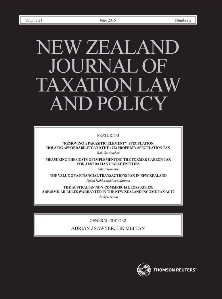 New Zealand Journal of Taxation Law and Policy