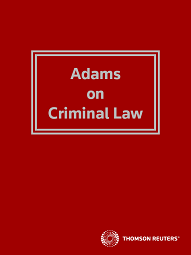 Adams on Criminal Law - Westlaw NZ
