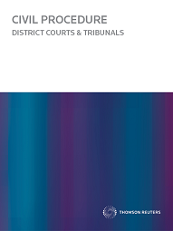 Civil Procedure: District Courts and Tribunals - Westlaw NZ