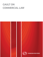 Gault on Commercial Law - Westlaw NZ