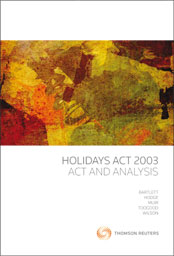 Holidays Act 2003: Act and Analysis