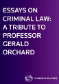 Essays on Criminal Law: A Tribute