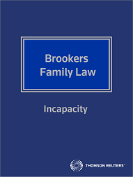 Family Law - Incapacity - Westlaw NZ