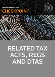 Related Tax Acts, Regulations, & DTAs - Checkpoint