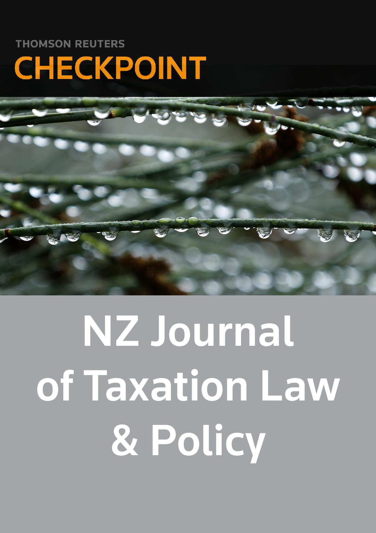 New Zealand Journal of Taxation Law and Policy - Checkpoint