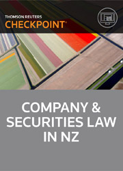 Corporate Law in New Zealand, Watson and Taylor (eds) - Checkpoint