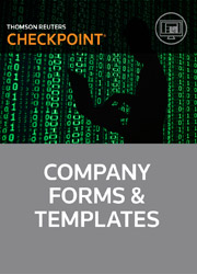 Company Forms & Templates - Checkpoint