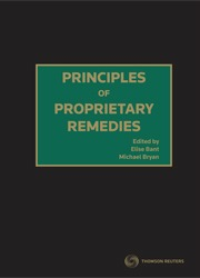 Principles of Proprietary Remedies (Hard Cover)