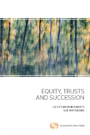 Equity, Trusts and Succession (Book)
