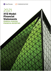 XYZ Model Financial Statements - General Purpose Financial Reporting (Standing Order)