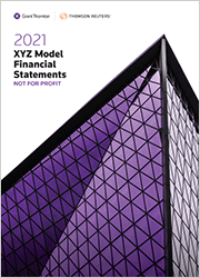 XYZ Model Financial Statements - Not For Profit (Standing Order)