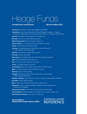 Hedge Funds - Jurisdictional Comparison - 2nd Edition