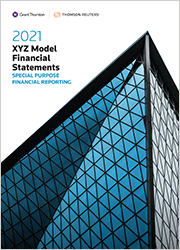 XYZ Model Financial Statements - Special Purpose Financial Reporting (Standing Order)