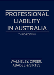 Professional Liability in Australia - 3rd Edition Hardcover