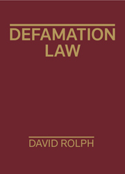 Defamation Law - 1st Edition