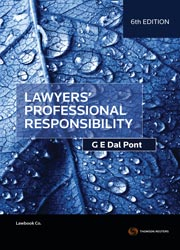 Lawyers' Professional Responsibility (6th Edition)