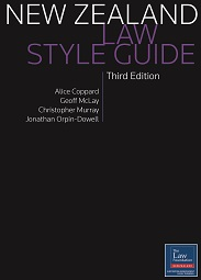 New Zealand Law Style Guide - 3rd Edition