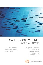 Mahoney on Evidence: Act & Analysis (Book)