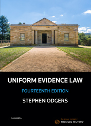 Uniform Evidence Law 14th Edition - Book