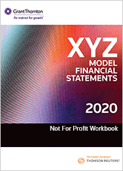 XYZ Model Financial Statements - Not For Profit Workbook 2020 (One-off purchase)